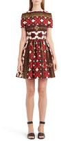 Valentino Women's Print Bambolina Crepe Couture Dress