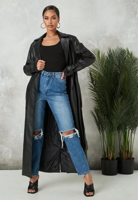 Missguided Blue Double Knee Rip Jeans
