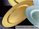Round Gold Chargers
