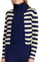 Lauren Ralph Lauren Petite Striped Metallic Cardigan