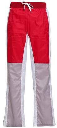 Each X Other Color-block Shell Straight-leg Pants