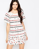 See by Chloe Jersey Dress With Woven Drop Hem
