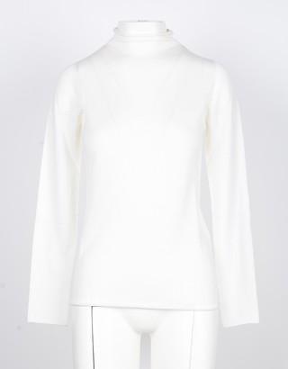 Lamberto Losani White Cashmere and Silk Women's Sweater