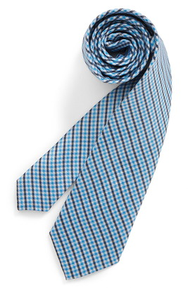 Michael Kors Micro Gingham Silk Tie