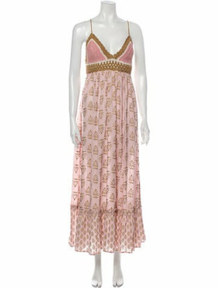 Miss June Printed Long Dress w/ Tags Pink