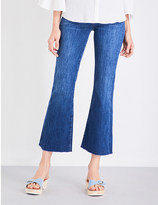 MiH Jeans Lou flared cropped mid-rise jeans