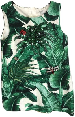Dolce & Gabbana Green Synthetic Dresses