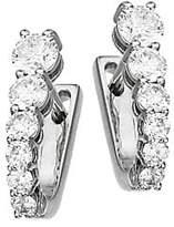 Melissa Kaye Women's Aria 18K White Gold & Diamond U-Huggie Hoop Earrings