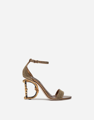 Dolce & Gabbana Lurex Sandals With Sculpted Heel