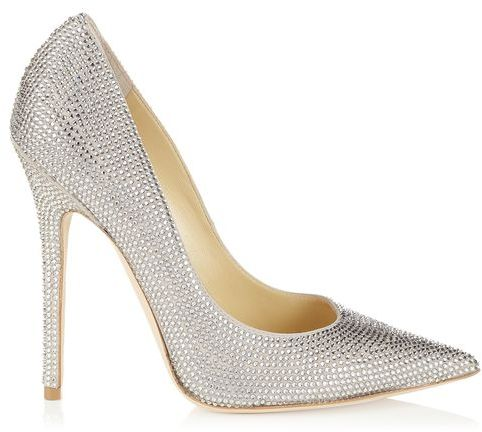 Jimmy Choo Tartini Pavé and Suede Pointy Toe Pumps