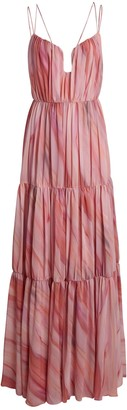 Aiifos Madeleine Pleated Sleeveless Maxi Dress