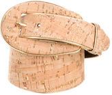 Oscar de la Renta Cork-Embellished Waist Belt