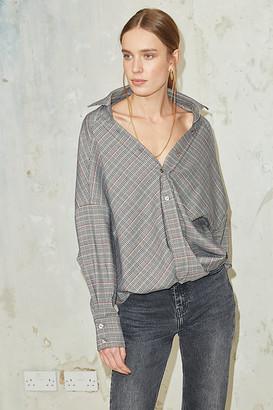 Jovonna London ESKIMO SHIRT CHECK PRINT GREY - S | grey - Grey/Grey