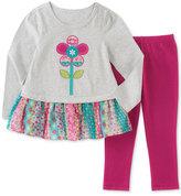 Kids Headquarters 2-Pc. Layered-Look Peplum Tunic and Leggings Set, Baby Girls (0-24 months)