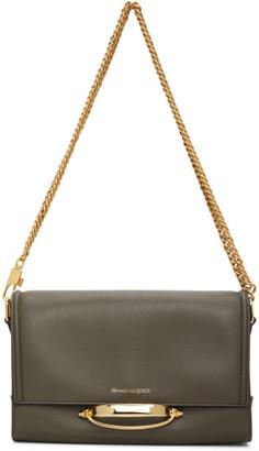 Alexander McQueen Khaki The Story Bag
