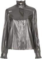Alyx frilled neck metallic blouse