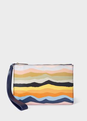 Paul Smith Women's 'Mountain Stripe' Leather Wristlet