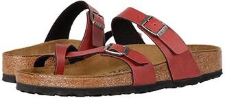Birkenstock Mayari (Bordeaux Birko-Flor Pull Up) Women's Shoes