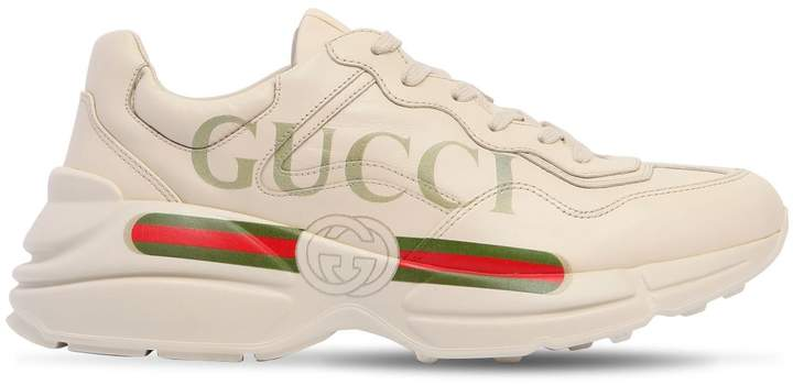 Gucci Rhyton Vintage Logo Leather Sneakers