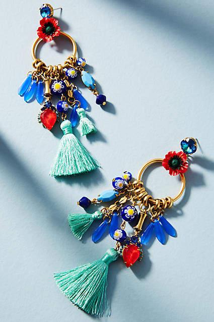 Elizabeth Cole Aussie Charm Drop Earrings
