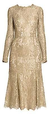 Dolce & Gabbana Women's Goldtone Lace Fit-&-Flare Dress