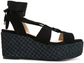 Castaner ankle wrap wedges - women - Raffia/Suede/rubber - 40