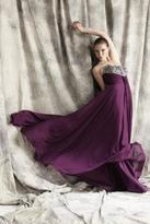 Theia Strapless Sequined Long Gown 881301