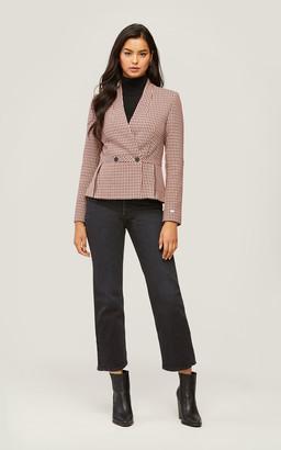 Soia & Kyo AERIN fit and flare micro-check blazer