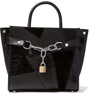 Alexander Wang Chain-Embellished Textured-Leather And Suede Tote