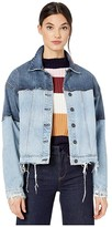 Hudson Jeans Two-Tone High-Low Jacket in Naive (Naive) Women's Clothing