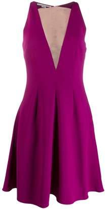 Stella McCartney sheer panel flared dress