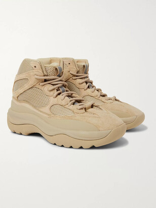 adidas Yeezy Dsrt Bt Suede And Nubuck-Trimmed Mesh Sneakers