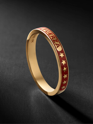 Foundrae Fuerza 18-Karat Gold And Enamel Ring