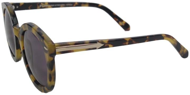 Karen Walker Super Duper Strength Sunglasses   Crazy Tort