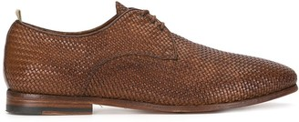Officine Creative Revien woven derby shoes