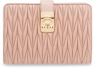 Miu Miu matelassé push-lock purse