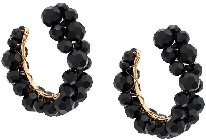 Simone Rocha Embellished Hoop Earrings