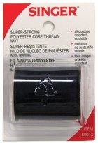 Singer 100% Polyester Thread - Super-Strong Navy (3 pack) 150 yds. ea.
