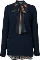 Sacai layered V-neck jumper