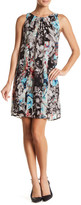 Robbie Bee Floral Sleeveless Shift Dress