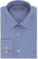 Geoffrey Beene Men's Tall Bedford Cord Classic-Fit Wrinkle-Free Cadet Blue Check Dress Shirt