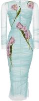 Dolce & Gabbana Tulip Printed Bodycon Dress