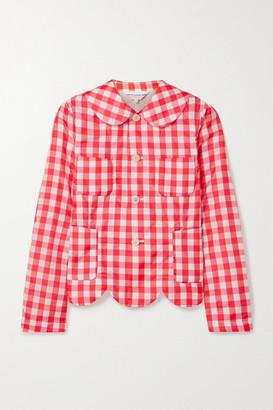 COMME DES GARÇONS GIRL Scalloped Gingham Shell Jacket - Red