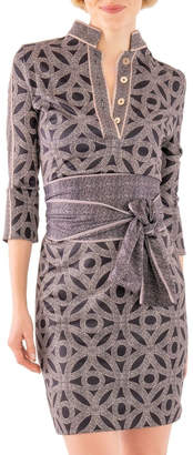 Gretchen Scott Mandarin 3/4 Sleeve Dress - Hooplah