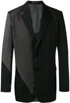 Yohji Yamamoto patchwork blazer - men - Silk/Cupro/Wool - 3