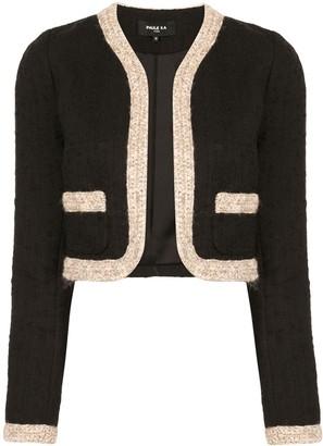 Paule Ka Crochet-Trimmed Tweed Jacket