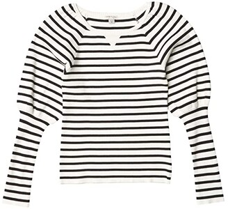 Habitual Puff Sleeve Sweater Knit Top (Big Kids) (Off-White) Girl's Clothing
