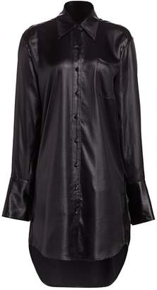 Alexander Wang Wet Shine Oversized Shirtdress