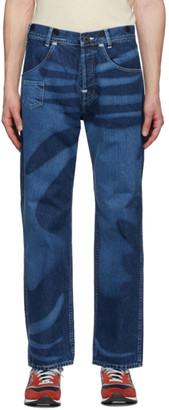 Junya Watanabe Indigo Levis Edition Print Jeans