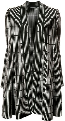 Antonino Valenti Striped Print Cardigan-Coat
